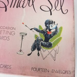 Vintage-Greeting-Cards-1950s-Box-Unused-Poodle-Train-Various-Greetings-14-USA