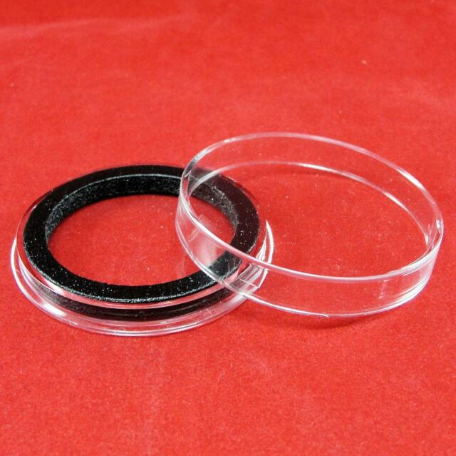 Air-Tite 1//2oz Silver Bar Black Ring Capsule Holders Qty 25