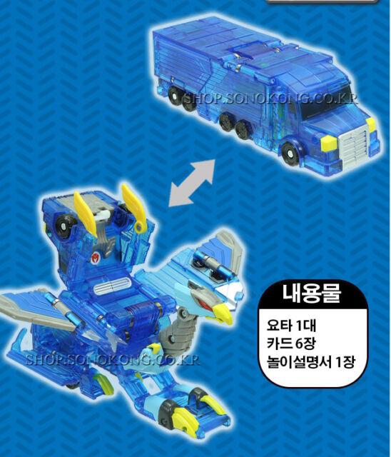 Turning Mecard W YOTA Blue ver Jumbo Mecarnimal Transformer Robot Car Sonokong