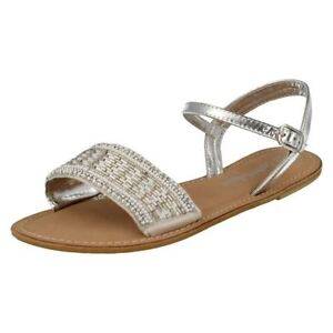 SALE-Leather-Collection-F0896-Ladies-Silver-Beaded-Leather-Summer-Sandals