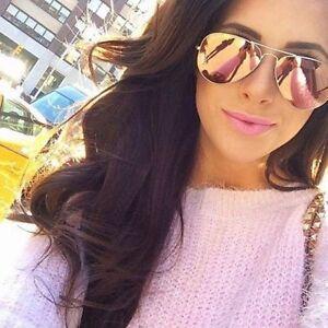f1c59968cf5 QUALITY ROSE GOLD PINK Mirror Women Sunglasses Retro.V400 DESIGN + ...