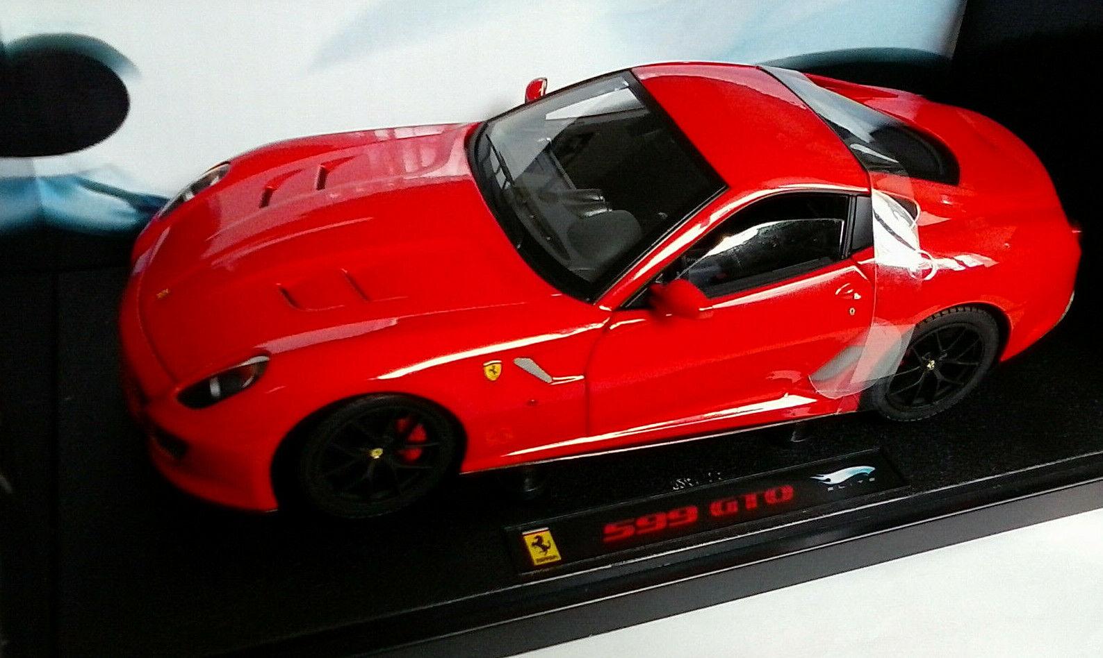 Hot Wtalons  Elite 1 18 Metal voiture Ferrari 599 GTO rouge Art t6927  économiser 60% de réduction