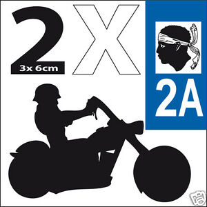 2 stickers autocollants style plaque immatriculation moto Corse 2A IVmWkCtq-07140340-850904774