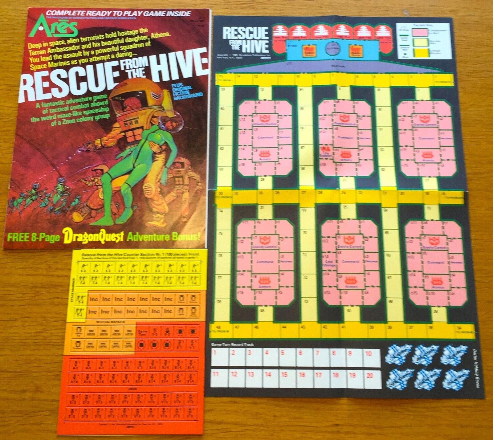 Ares n. 7 - Rescue From The Hive - SPI 1981 - UNPUNCHED