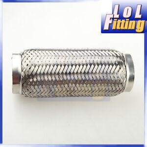 "ID Exhaust Flex Pipe 8/"" Length Stainless Steel coupling Interlock 2.25/"" 57mm"