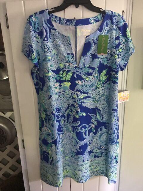 8136c4ab7af27b Lilly Pulitzer NWT Sophiletta Dress Blue Current Sea Sirens XL Free Shipping