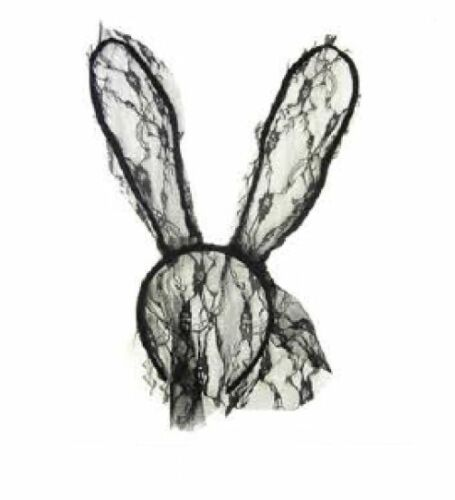 Many Color Lace BUNNY EARS /& FACE COVERED Head Band One Size Fits All FJM6022,23