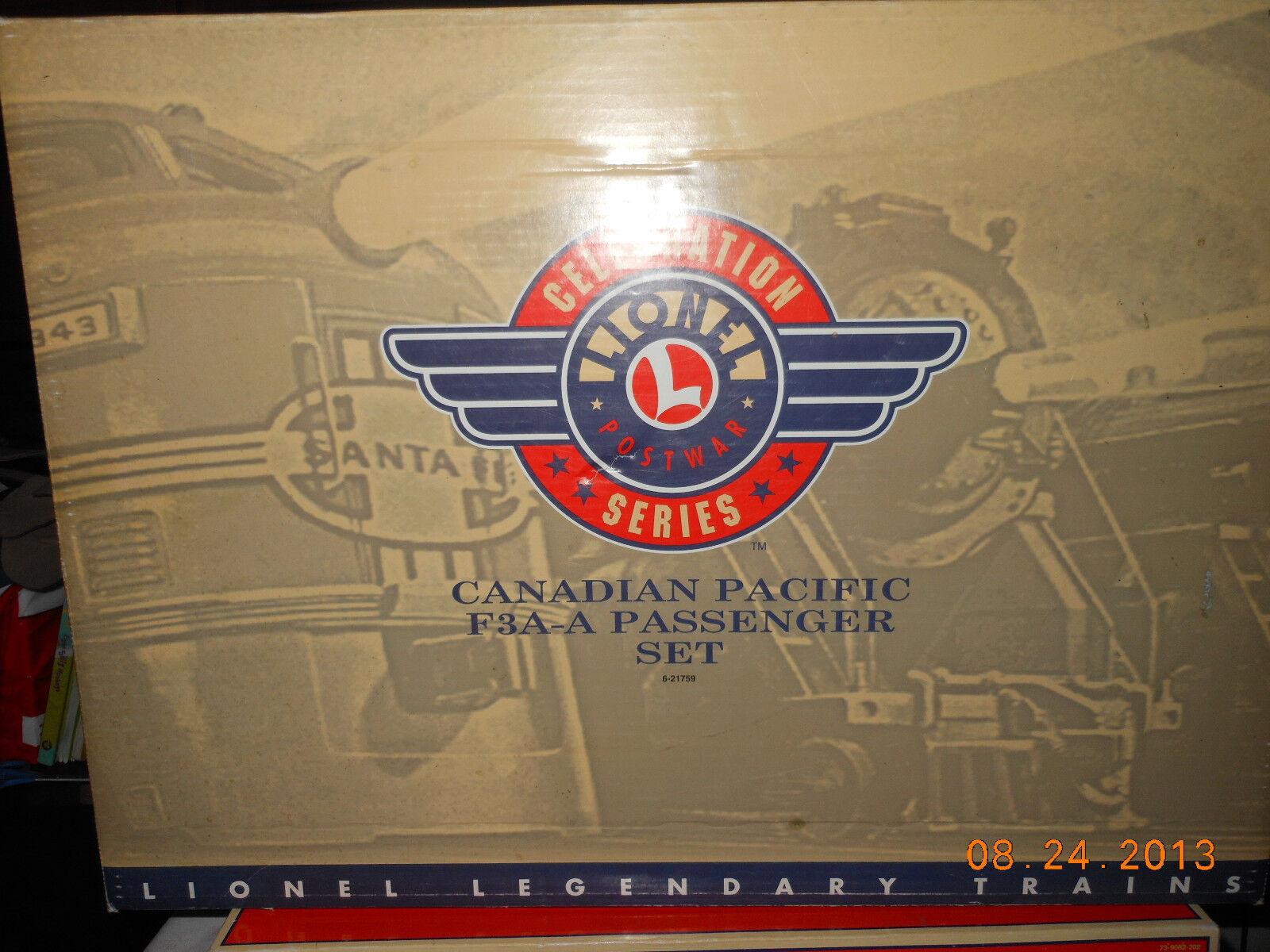 directo de fábrica Lionel 21759 PwC Canadian Pacific F-3 AA AA AA con 4 vagones de pasajeros  marca en liquidación de venta