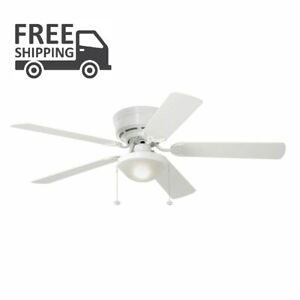 Mount Ceiling Fan Light Kit White Led Indoor Flush Harbor Breeze 5 Blade Decor 80629178557 Ebay