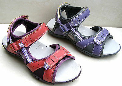 GIRLS WOMES LEATHER INSOLES BEACH HOLIDAY OPEN TOE SANDALS SHOES SIZES UK 11 4 7