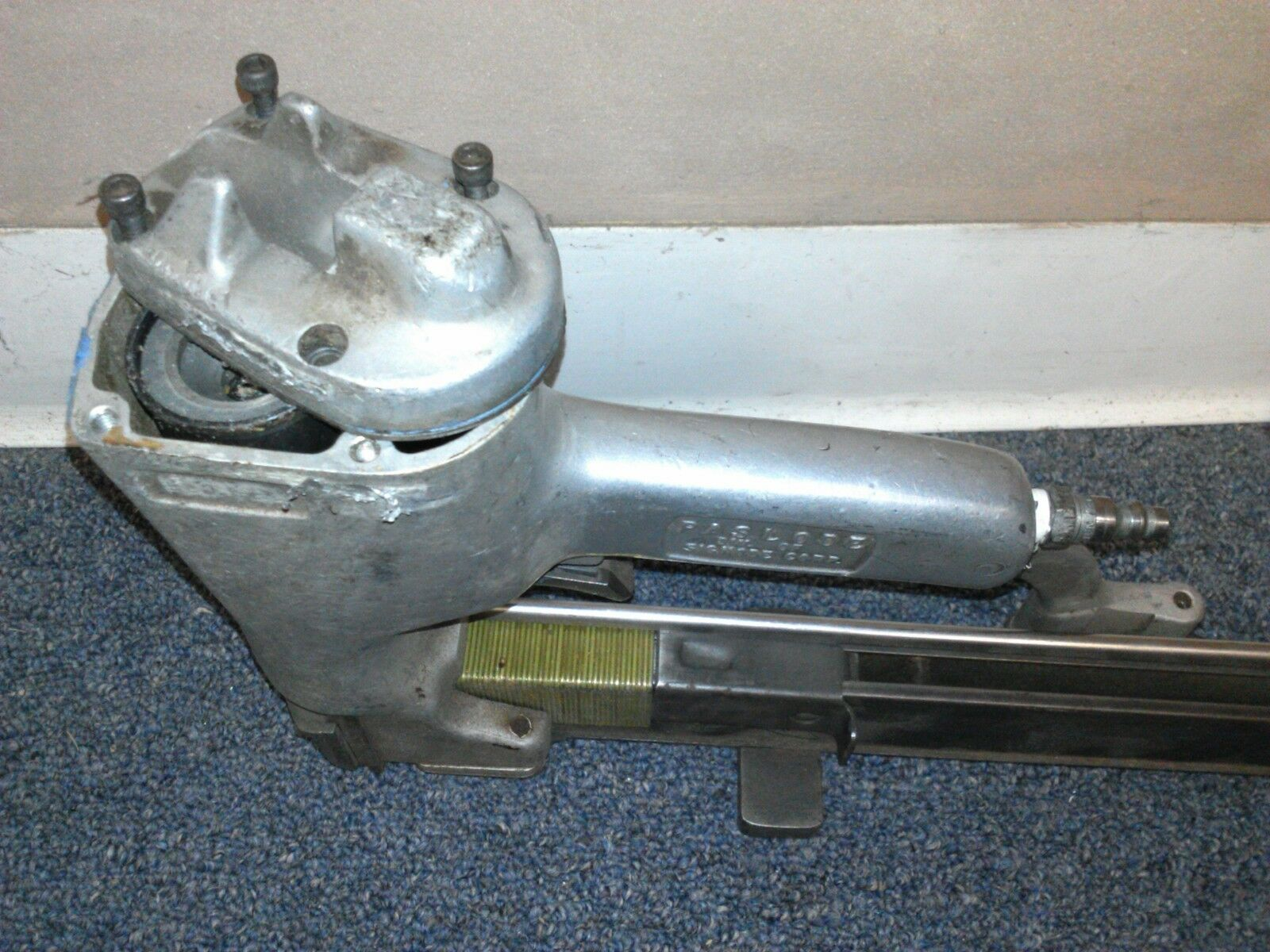 USED 400049 HOUSING FOR PASLODE MU112W16R STAPLER - ENTIRE PICTURE NOT FOR SALE