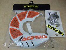 ACERBIS X-BRAKE FRONT BRAKE DISC GUARD COVER MOUNT KIT ORANGE KTM 350 450 525