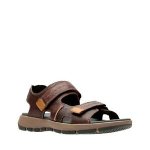 145f4ccc056 Men s Clarks Sandals Brixby Shore Dark Brown Leather 261 31549