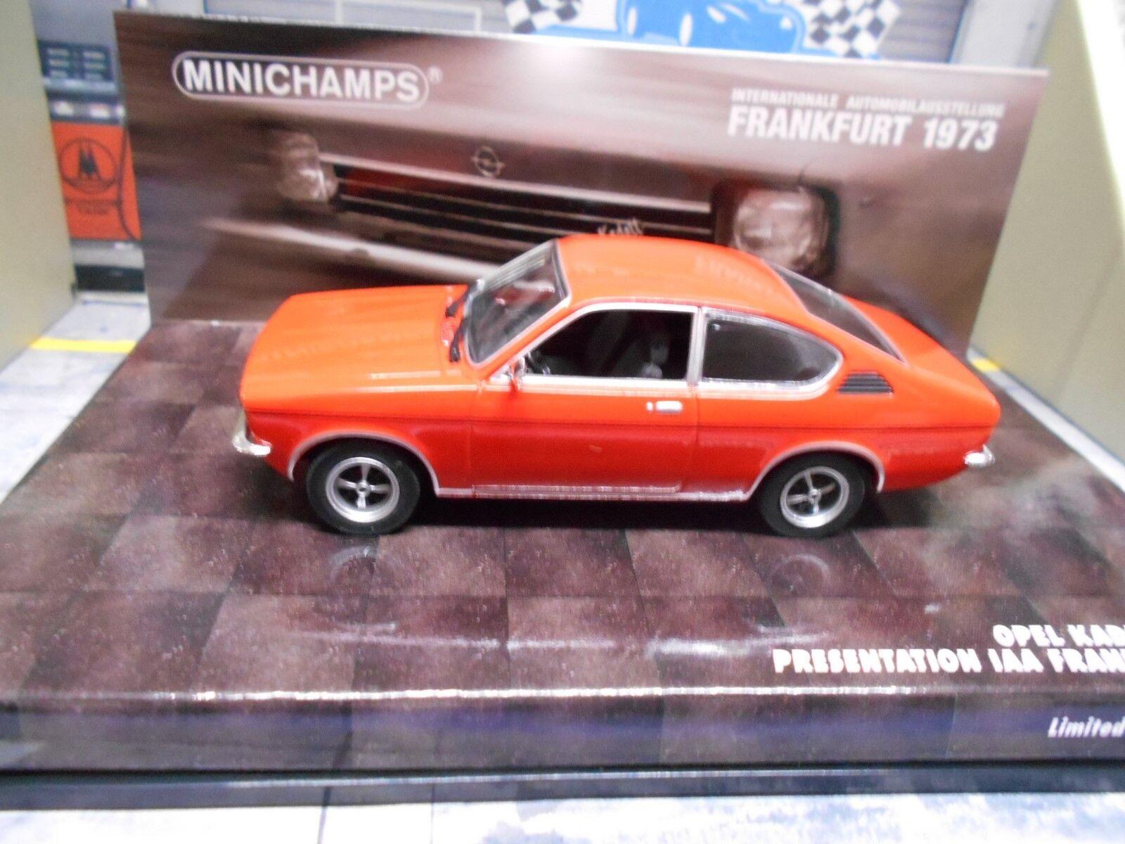 Opel Kadett C C C Coupé Hell Rouge rouge Bit Francfort 1973 présentation MINICHAMPS 1 43 ab23bf