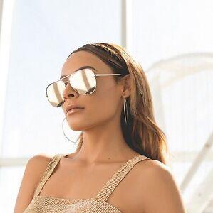 a3a22a5c605 New QUAY X Desi Perkins High Key Gold Gold Mirror Sunglasses