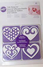 Wilton Cake Stamp Set Heart Valentines Red Decorating Supplies