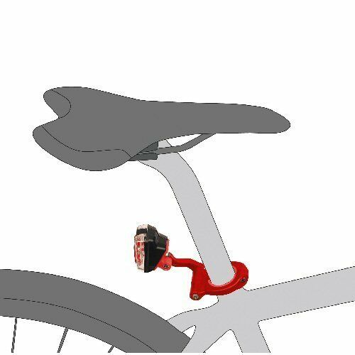 Addictive Bikes Rear Bicycle Light Seatpost Mount Bracket fits multi diameters