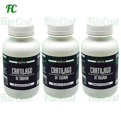 CARTILAGO TIBURON 750 mg. 270 Capsulas - SOTYA  Huesos y Articulaciones