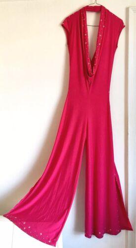 Hot pink Stretch jersey 1970 Style Medium Size Jum