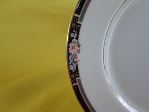 Mikasa Florisse Black SALAD PLATE 1 of 3 available have more items to this set