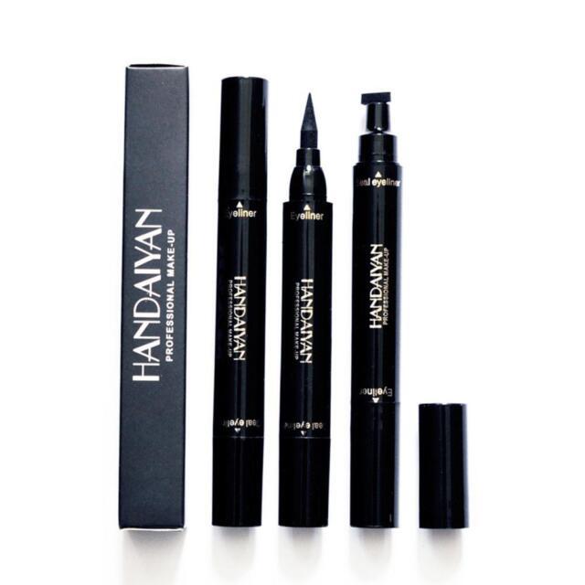 Winged Eyeliner Stamp Waterproof Makeup Womens Eye Liner Pencil Black Liquid w/