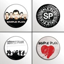 "4-Piece SIMPLE PLAN 1"" Band Pinback Buttons / Pins / Badge Set"