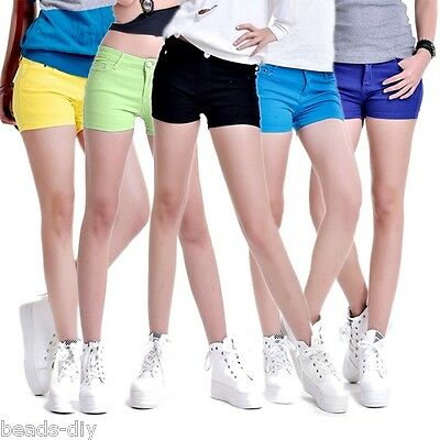 BD Womens Candy-colored Skinny Casual Stretch Jean Denim Shorts Hot Pants