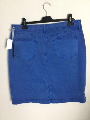 Met Fitted Grootte labels rok stretchoverhemd Nydjs 20uk met blauwe Nieuwe ZqB8ww
