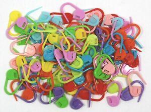 Plastico-marcadores-de-punto-clip-de-enganche-para-tejer-amp-Croche