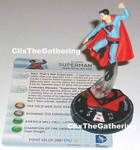 SUPERMAN(red son) #065 Superman Wonder Woman DC HeroClix Chase Rare