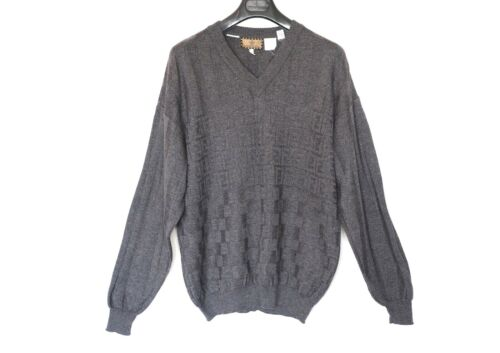FENDI grey monogram zucca 52 L XL jumper wool swea
