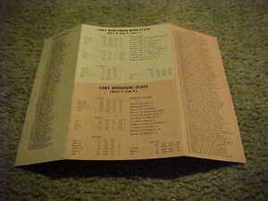 1981 Tangerine Bowl Football Roster Southern Miss V Missouri Tigers
