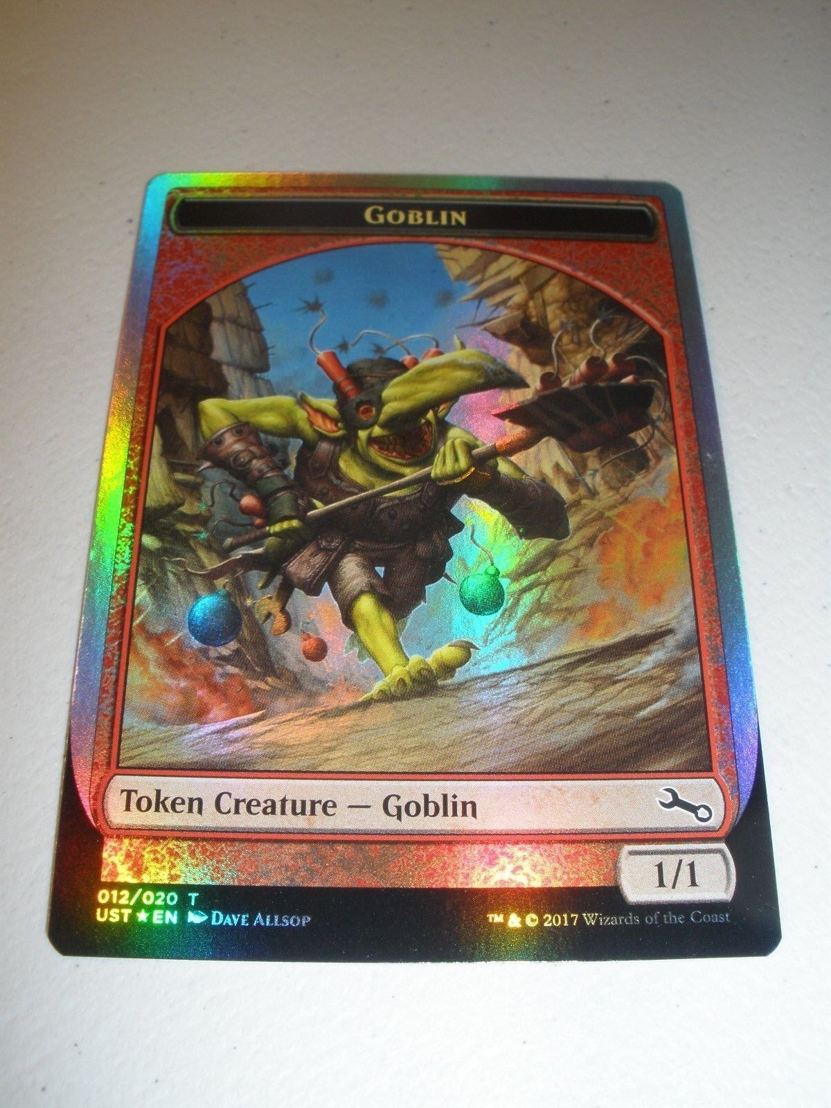 Mtg magie miscut druckfehler folie goblin - token x1 unstable nm