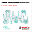 miniature 16 - Roller Skate Safety Gear Protecteurs-croxer taille moyenne-Runner Noir Ou Vert Menthe