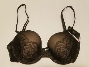 50f7bd0ea210f New WACOAL Bra Size 32D Black Full Coverage Padded Floral Lace ...