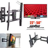 Full Motion Smart Tv Wall Mount Swivel Bracket 32 40 42 47 55 60 70 Flat Screen