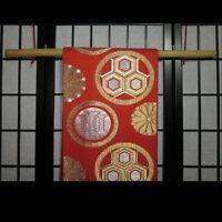 Natural Obi Bamboo Display Rod Hanger For Japanese Obi Sashes Belts