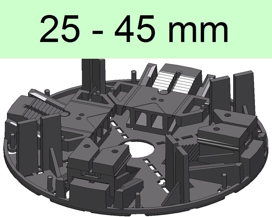 70 Stelzlager, 25-45mm, höhenverstellbar, Plattenlager, Terrassenlager ,;