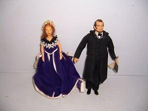 Costume-amp-Portrait-Dolls-Peggy-Nisbet-Abraham-amp-Mary-Lincoln-8-034-Dolls-w-Boxes