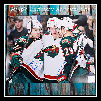 Basketball-other Minnesota Wild Zach Parise & Jason Pominville Autografato 11x14 Foto Ad1 Coa At Any Cost Sports Mem, Cards & Fan Shop
