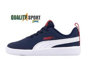Scarpe Bambino Blu Puma 01 Courtflex 362650 Sportive Rosso Sneakers UnUBOtw