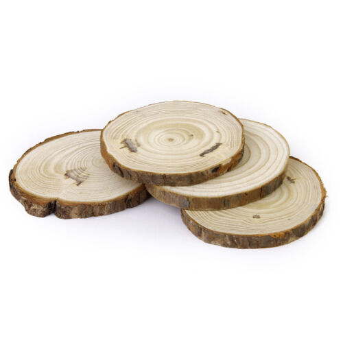 Natural Wooden Log Slices Rustic Wedding Centerpiece Home Table Decor DIY Craft