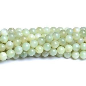 New-Jade-Round-Beads-8mm-Pale-Green-40-Pcs-Gemstones-Jewellery-Making-Crafts