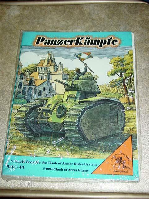 Clash of Arms Game - PanzerKampfe - Scenario Book for Rules System (SEALED)