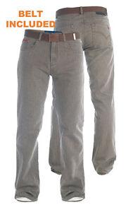 DUKE-London-Tall-Jeans-Da-Uomo-Bedford-Cord-Pantaloni-Marrone-38-034-Gamba-32-034-50-034-T1551