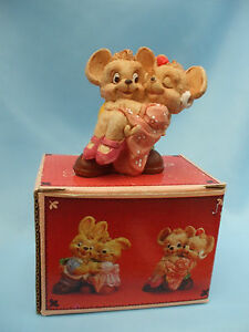 Collectable-Boxed-1994-J-C-Sweetheart-Couples-Mice-Ornament