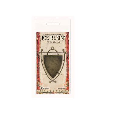 Ice Resin Rune Bezel Ellipse-antique Bronze