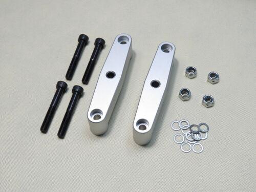 Details about  /Silver Metal Alloy Tandem Axle Wheel Kit Set Skateboard Cruiser Longboard Truck