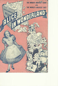 ALICE-IN-WONDERLAND-1933-W-C-FIELDS-ORIGINAL-HERALD