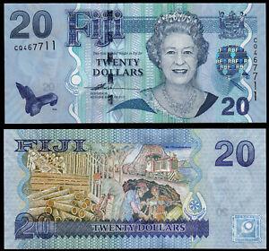 FIJI-20-DOLLARS-P112a-N-D-2007-QEII-UNC